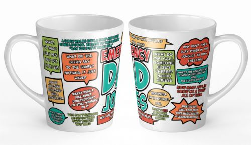 12oz Emergency Dad Jokes Funny Novelty Gift Latte Mug